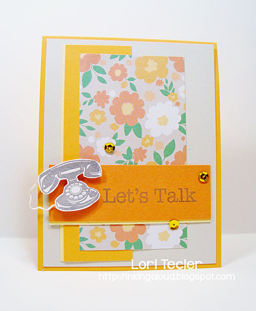 Let's Talk card-designed by Lori Tecler/Inking Aloud-stamps from Hero Arts