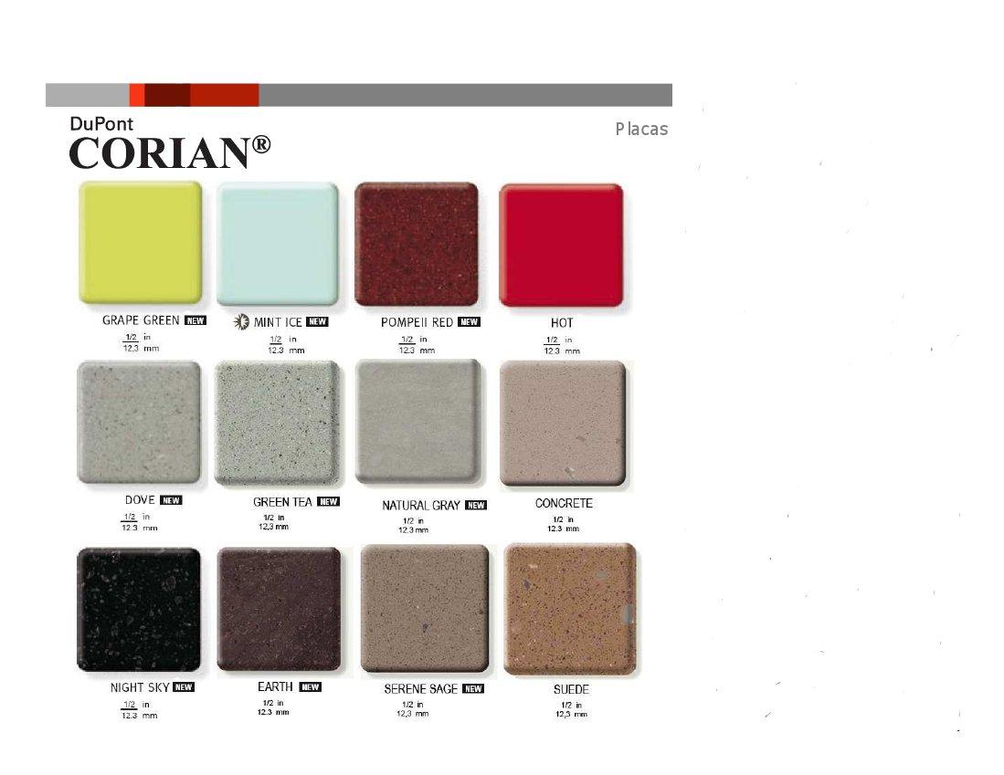 mesadas corian dupont patagonia placa de colores