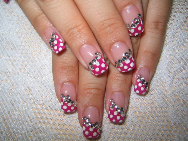 acrylic nail designs for valentines. Artificial Nail Art Designs