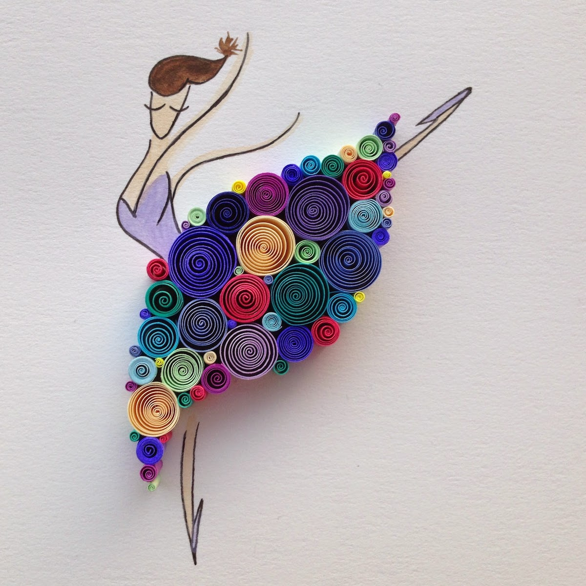 09-Dancing-Queen-Sena-Runa-Drawing-and-Quilling-a-match-made-in-Heaven-www-designstack-co