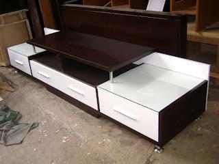 Contoh Furniture minimalis semprot melamine dan duco