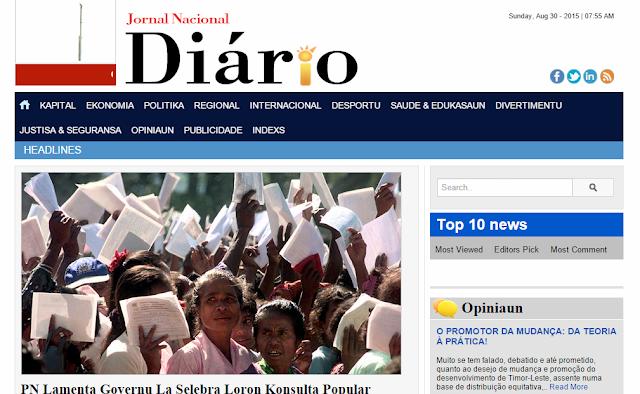 DIÁRIO - JORNAL NACIONAL (divulgasaun Timor Agora)