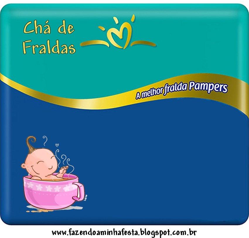 Convite Pampers para Chá de Fraldas!
