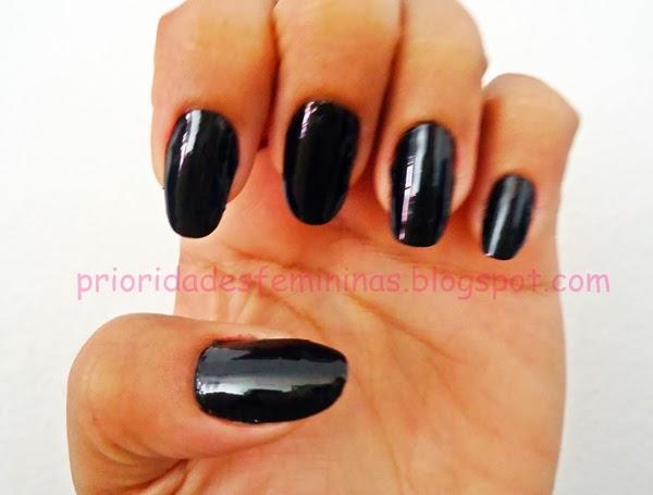 unhas negras, nail art