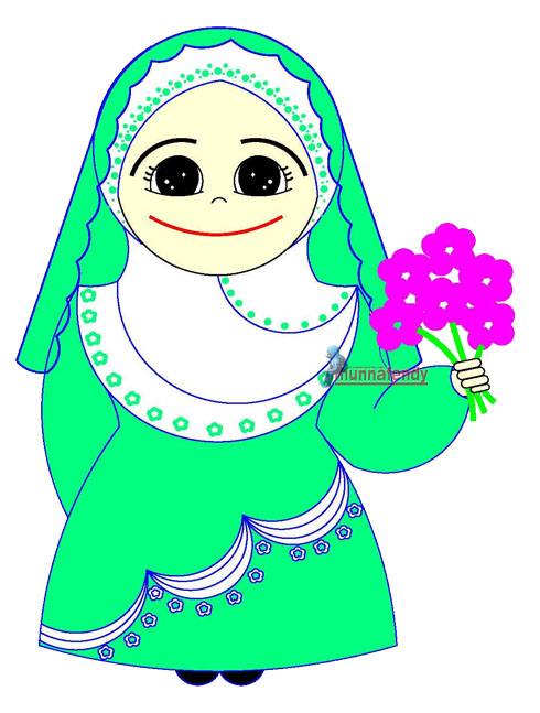 Pin Kartun Muslimah Dan Muslim Cake on Pinterest
