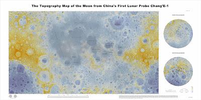 Atlas Topográfico de la superficie lunar