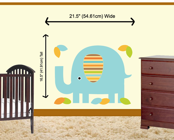 Decamp studios mod elephant boy wall mural for Baby boy wall mural