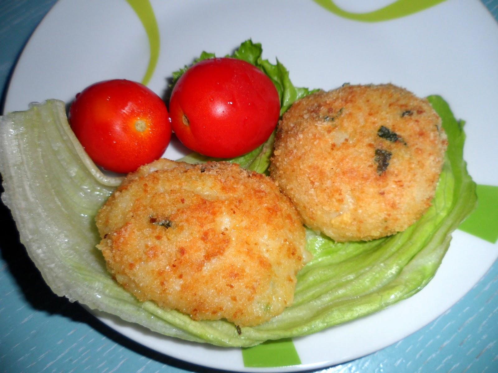 Polpette di pesce persico (o filetto di altro tipo) al forno