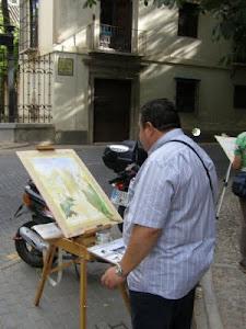 Pintando en la alhambra