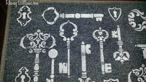 doormat design closeup
