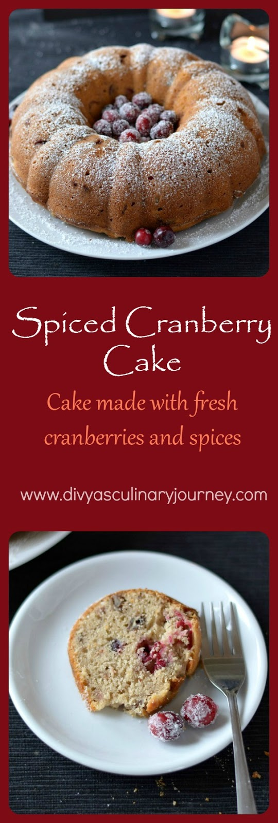 spiced cranberry cake, cranberry bundt cake