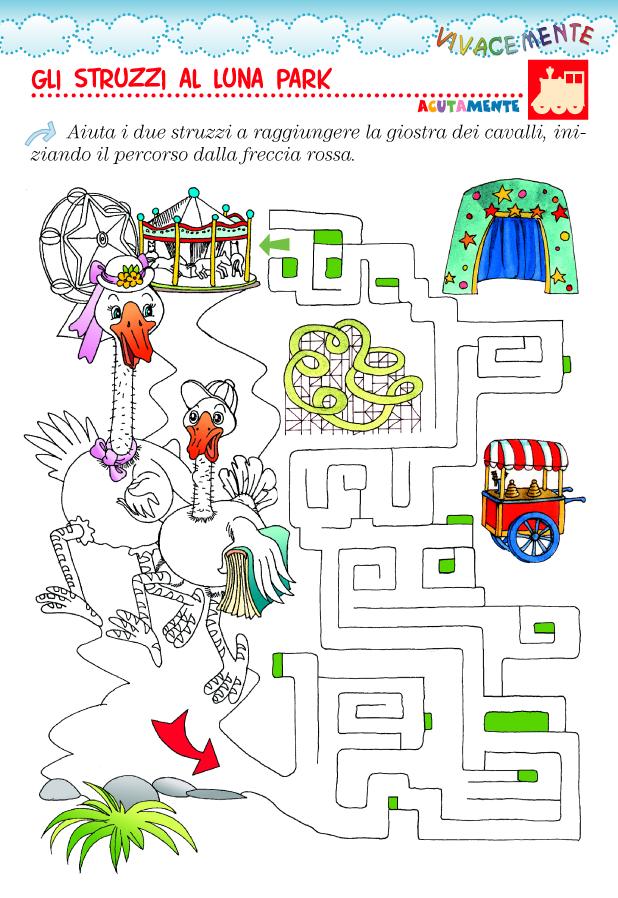Vivacemente con il cuore e con la mente labirinto per for Cruciverba facili per bambini piccoli