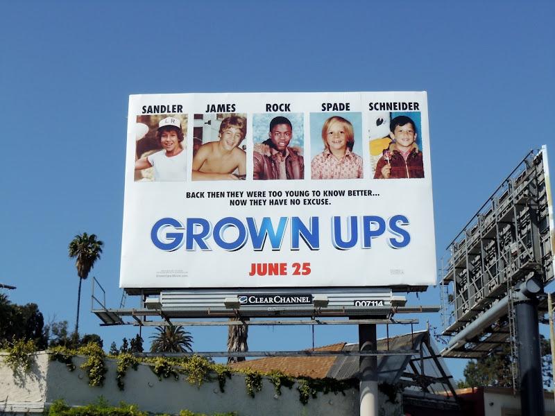 Grown Ups movie billboard