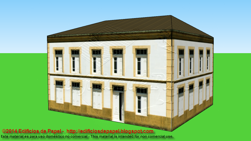 Basic paper model of a classic building