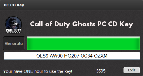 call of duty 4 keygen generator download