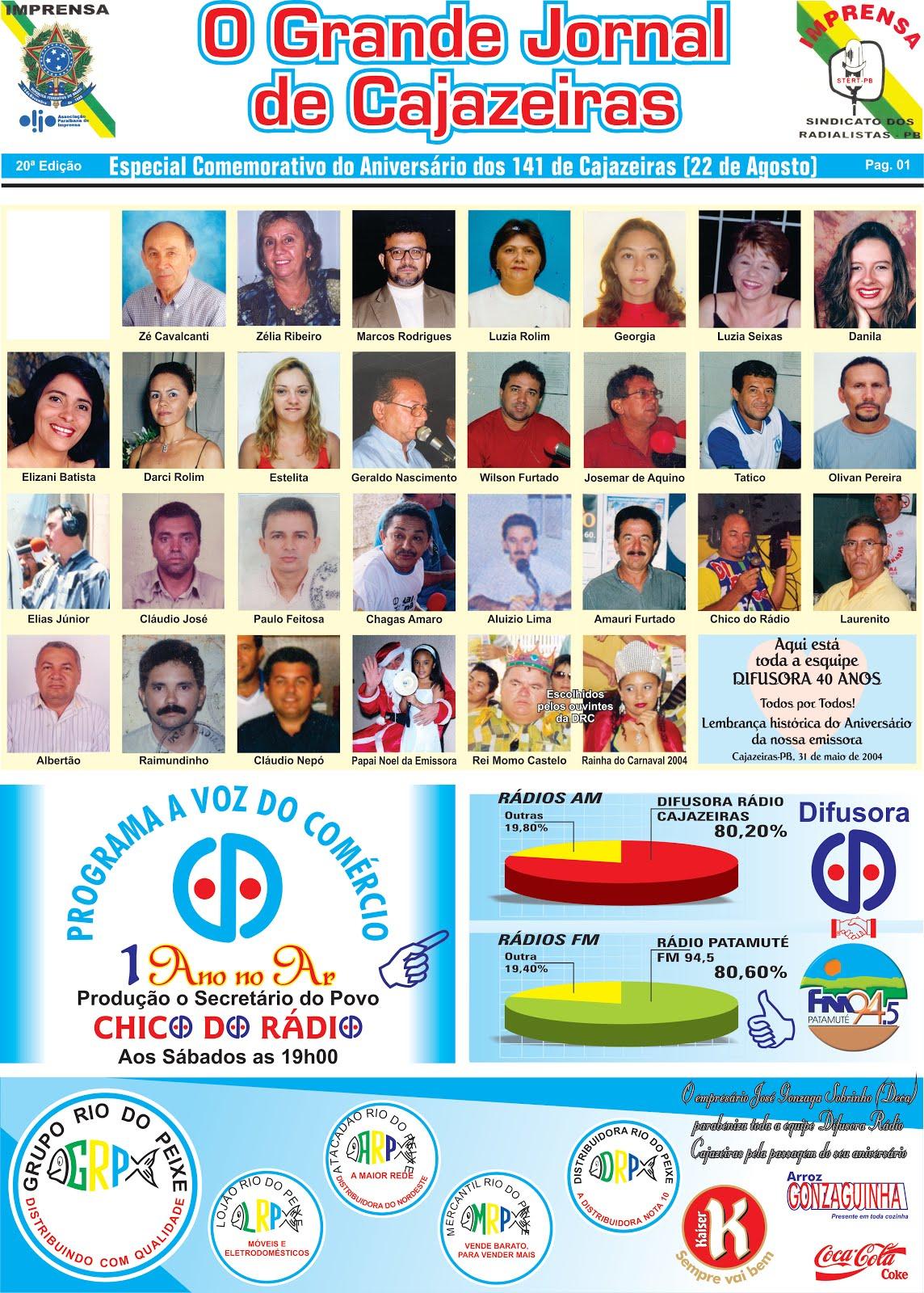 O GRANDE JORNAL DO ESTADO PB INICIOU  SUAS ATIVIDADES COM O GRANDE JORNAL DE CAJAZEIRAS PB