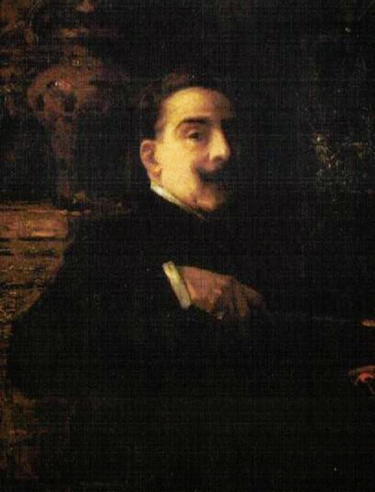 Salvador Sánchez Barbudo y Morales, self Portrait, Portraits of Painters