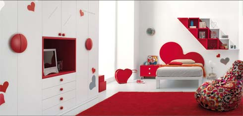 Kids-Bedrooms-Design-Ideas-With-Red-Color-Creation