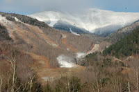 Snowmaking begins on Whiteface Mountain, Tuesday morning November 6, 2012.  Photo credit:  Scotty Jack.  The Saratoga Skier and Hiker, first-hand accounts of adventures in the Adirondacks and beyond, and Gore Mountain ski blog.