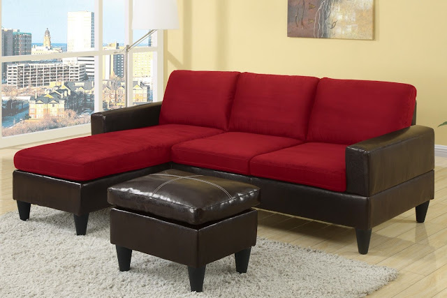 Small Red Sectional Sofa