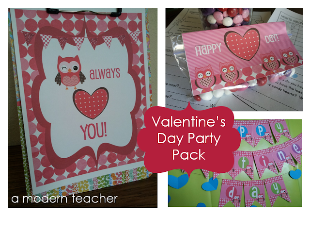 Valentine's Day Party Pack www.amodernteacher.com
