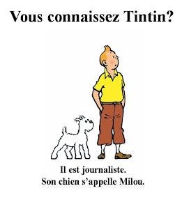 Vous pouvez jouer avec Tintin.