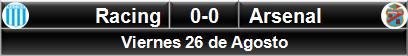 Racing 0-0 Arsenal