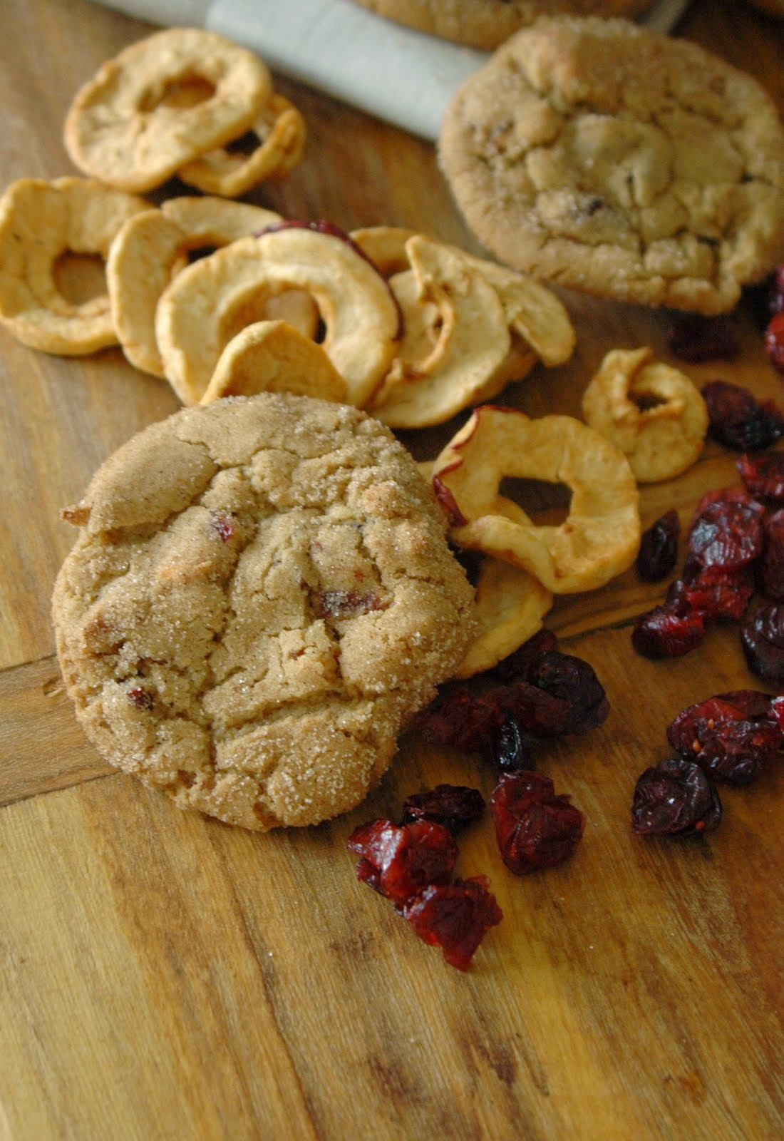 apple & cranberry brown sugar cookies