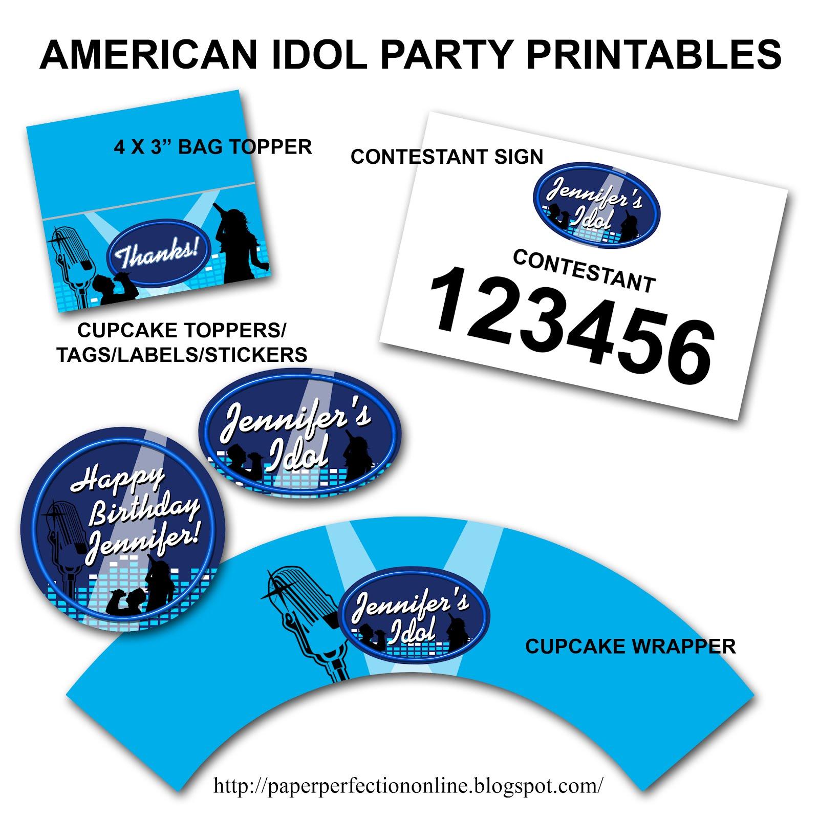 Paper Perfection American Idol Invitation