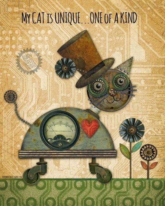 My CAT is ONE of a KIND | Art Print | Robin Davis Studio