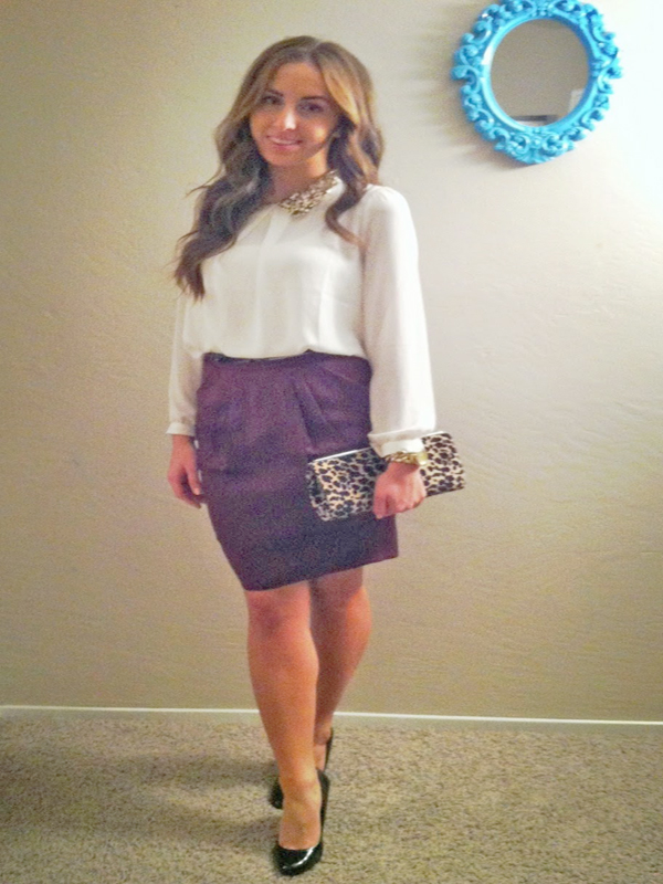 Pencil Skirt Dressy Outfit Girls Night Out Look