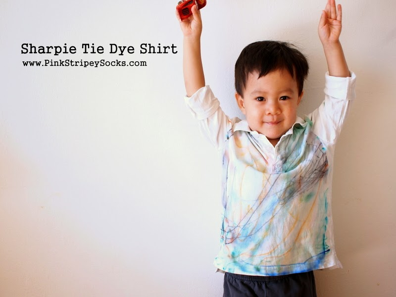 Toddler made- Sharpie Tie Dye Shirt