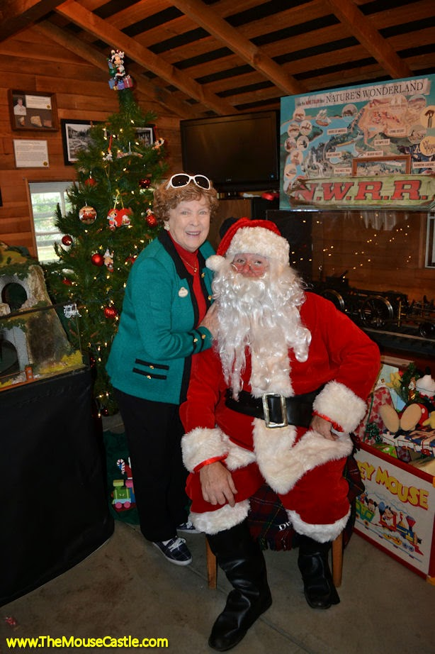 Margaret Kerry and Santa Claus at Walt's Barn