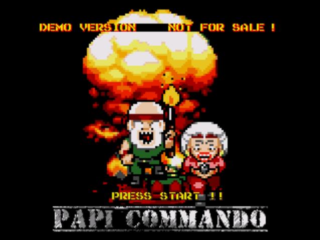Tiros en la jungla a lo Mercs en Papi Commando, lo último para Megadrive