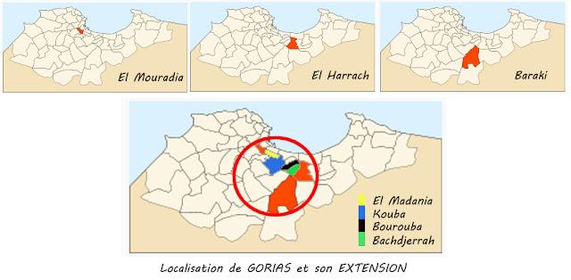 Localisation de GORIAS et de son EXTENSION