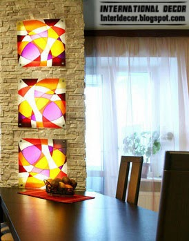 stained glass wall decor and art painting