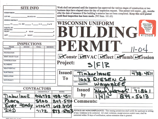 Mike vilstrup 39 s blog the building permit for How to make building plans for permit