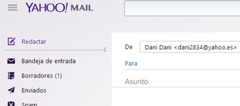 redactando un correo