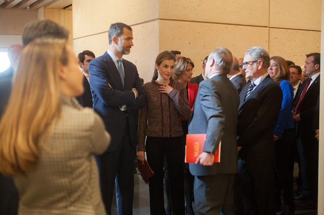 Queen Letizia of Spain attends the opening of the Navarra University Museum