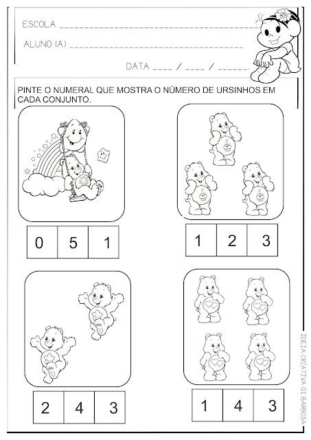 Atividade Educação Infantil Conjuntos