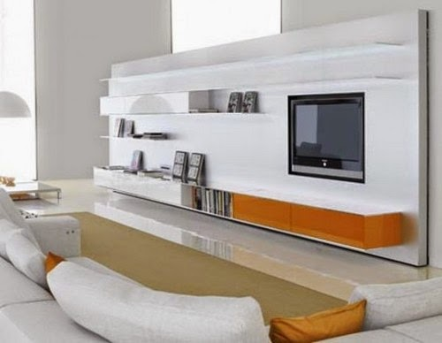 modern TV cabinets with storage system designs
