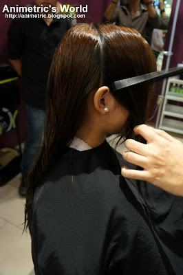 Sectioning the hair for cutting