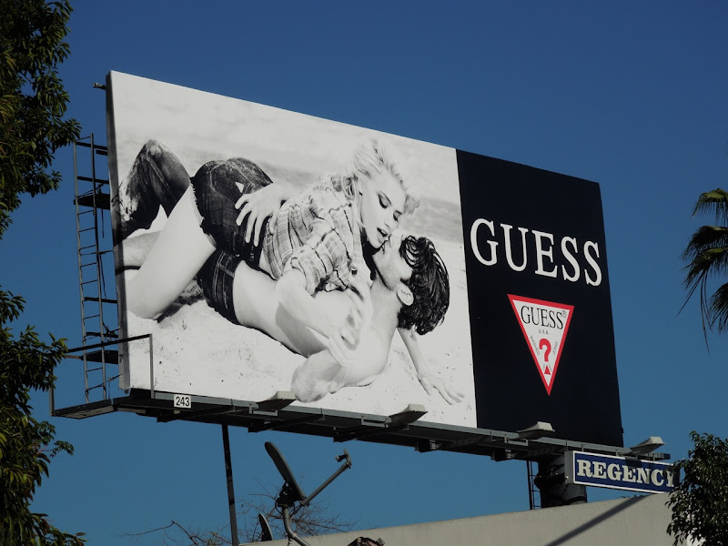 Sexy Guess beach billboard