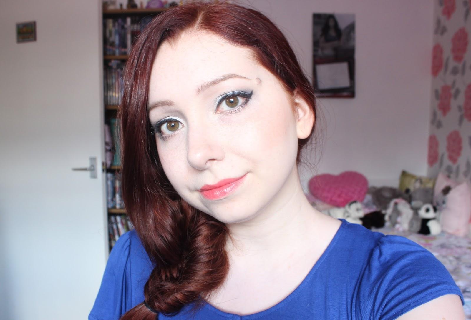 Makeup: Blue Shimmer Eyes