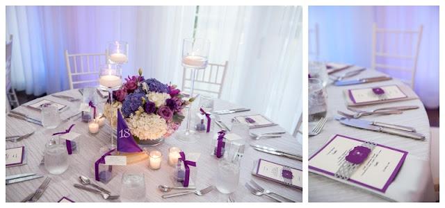 purple wedding, belle mer