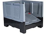 Caja-contenedor-plegable-PlegaBox-1208 -plastico-perforado-800x1200x1000-mm-puerta-plegada