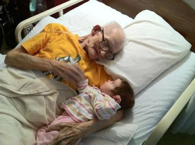old man with baby