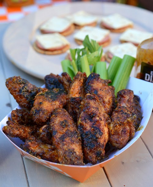 golden chipotle mustard wings