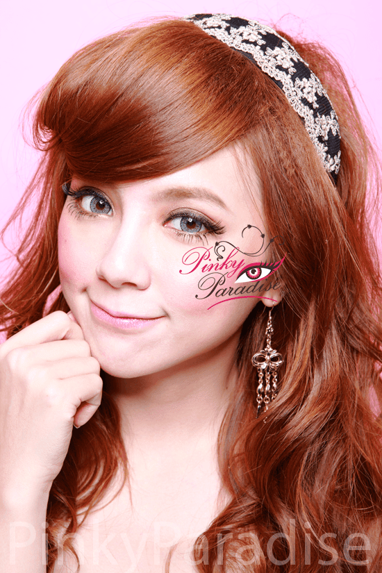 Geo Nudy Grey Circel Lenses (Colored Contacts) Model 2