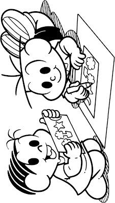 Desenho de Volta às aulas com Turma da Mônica para colorir